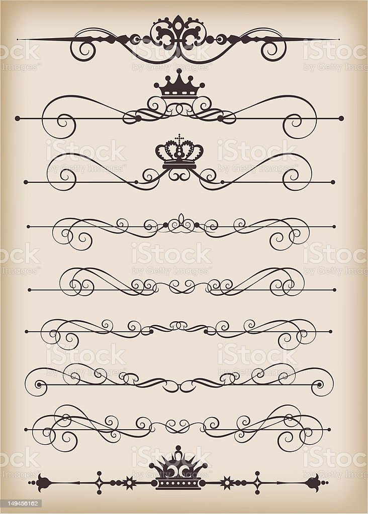 graphic design, set, 3 royalty-free stock vector art