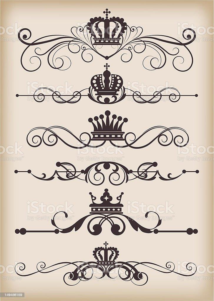 graphic design, set, 4 royalty-free stock vector art