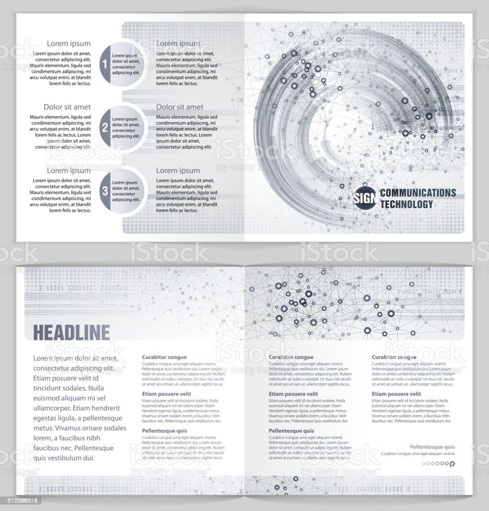 Graphic Design Template 'Communications technology' vector art illustration