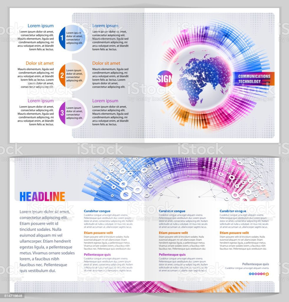 Graphic Design Template 'Communications technology' vector art illustration