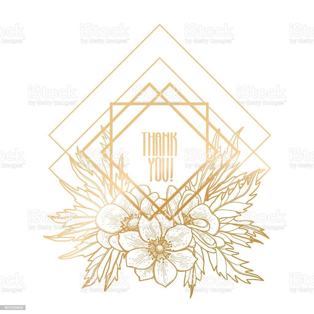 Graphic design with floral vignette vector art illustration