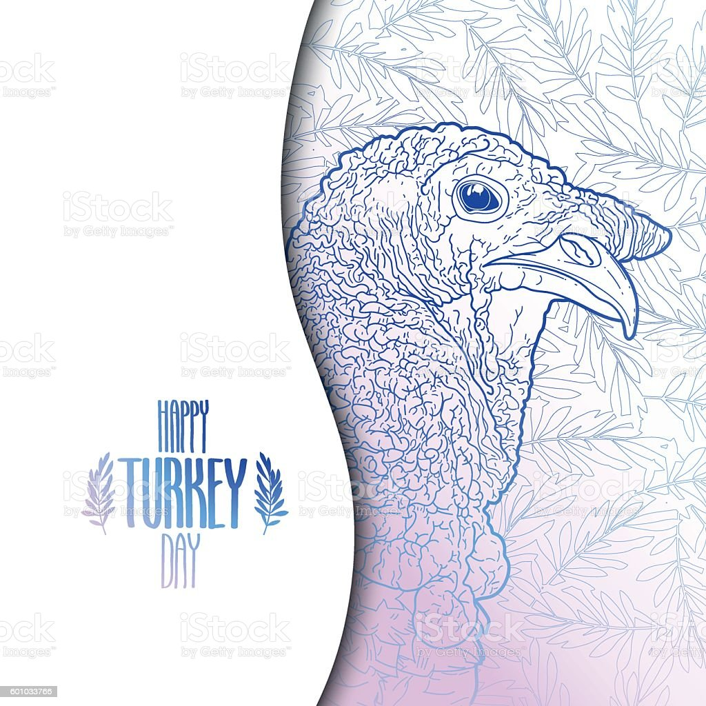 Graphic design with turkey vector art illustration