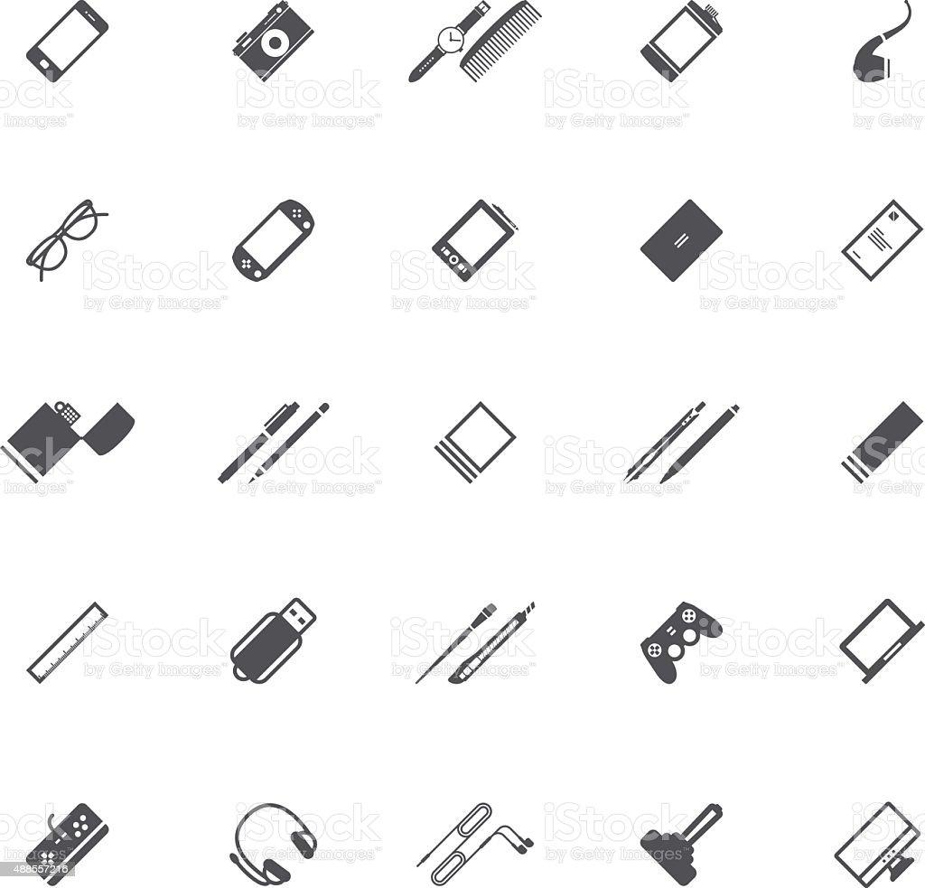 Graphic designer tools icons vector art illustration