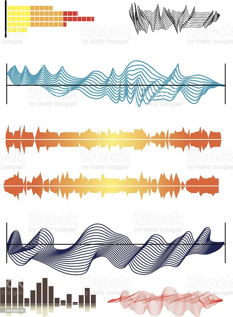 Graphic Elements 2  - Sound waves vector art illustration
