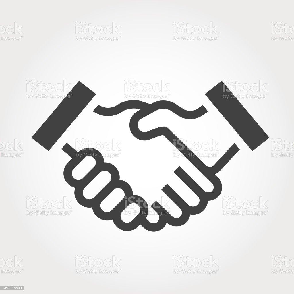 Graphic Elements - Handshake vector art illustration