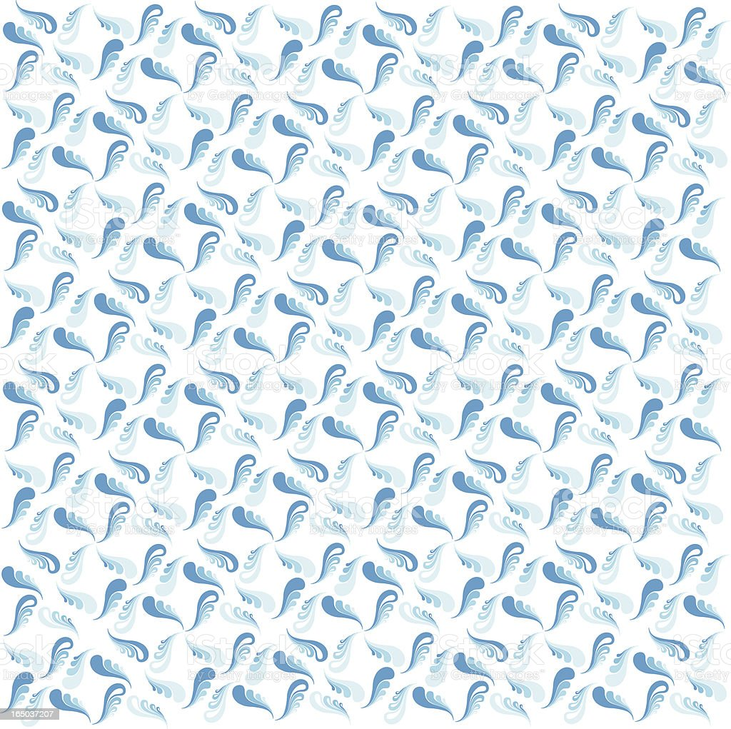 Graphic Feather/Swirl Wallpaper vector art illustration