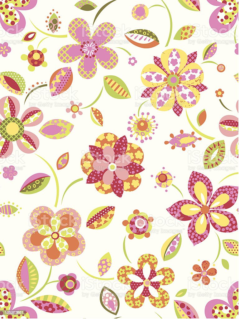Graphic Floral pattern royalty-free stock vector art