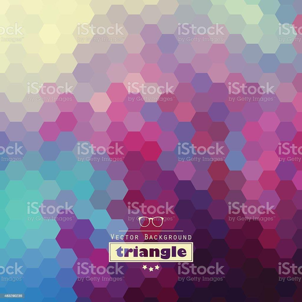 Graphic hexagon pattern royalty-free stock vector art
