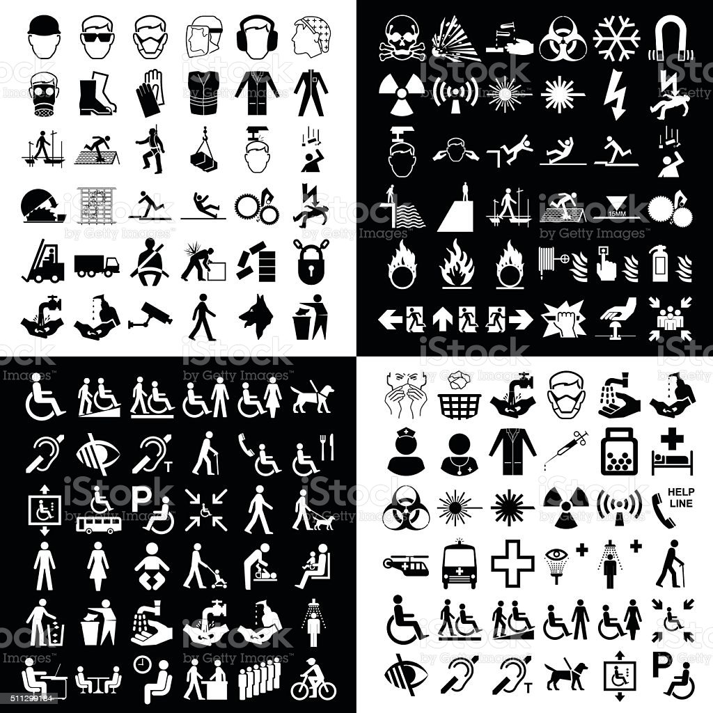 Graphic icon collection vector art illustration