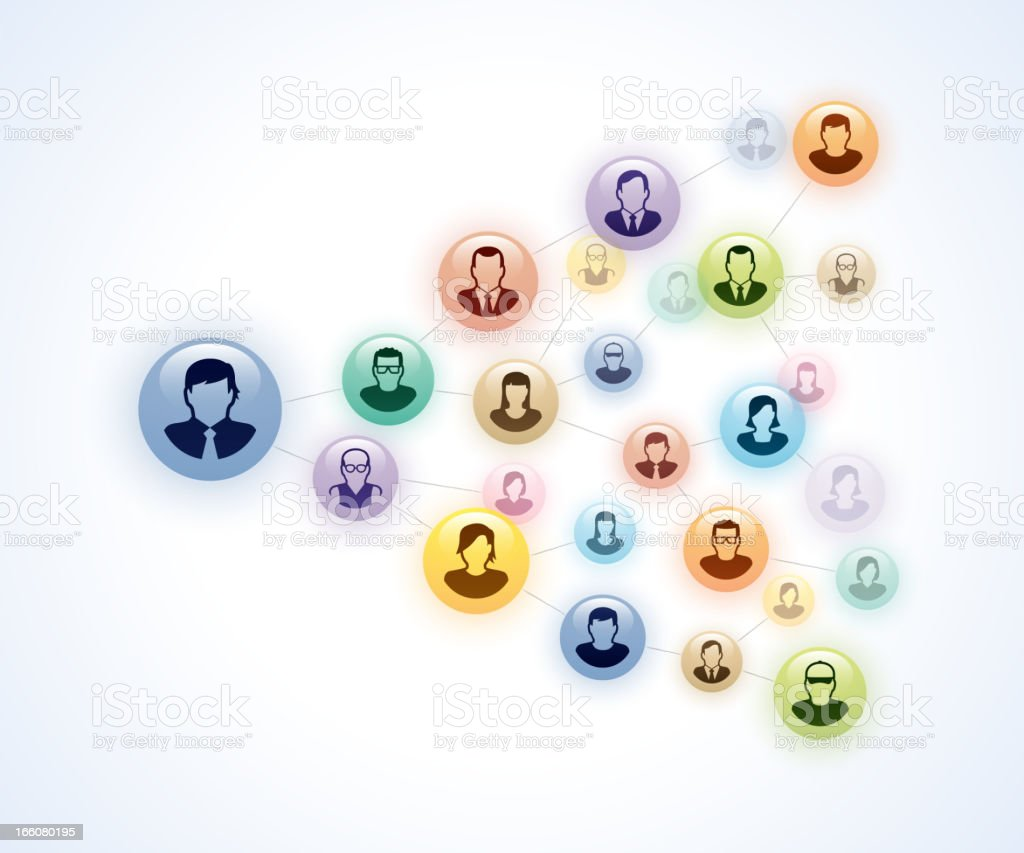 Graphic icons of business networking royalty-free stock vector art