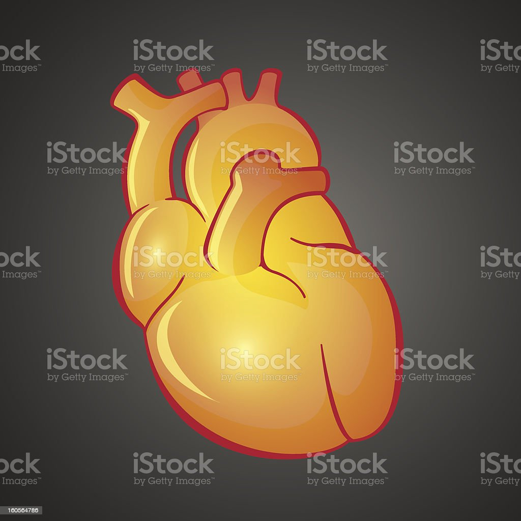 Graphic illustration of Heart royalty-free stock vector art