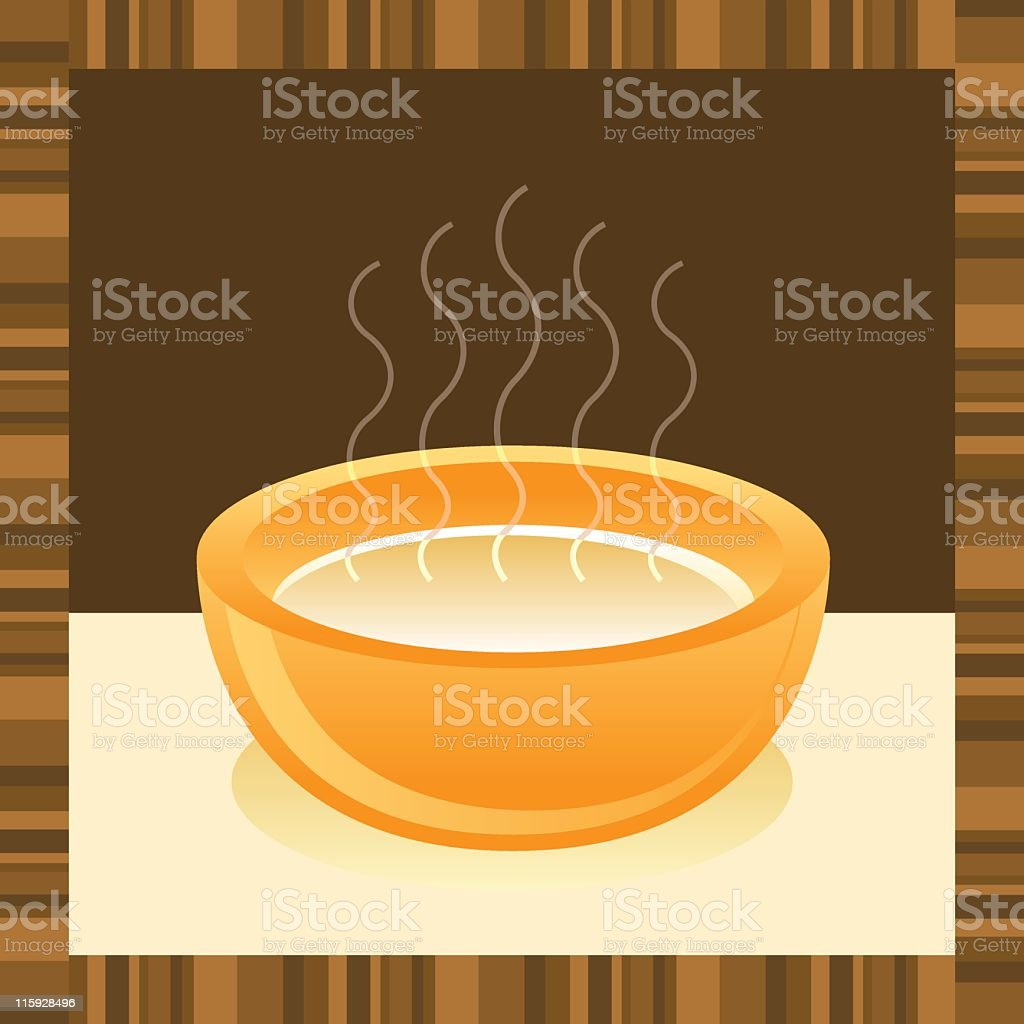 Graphic image of a bowl of hot soup royalty-free stock vector art