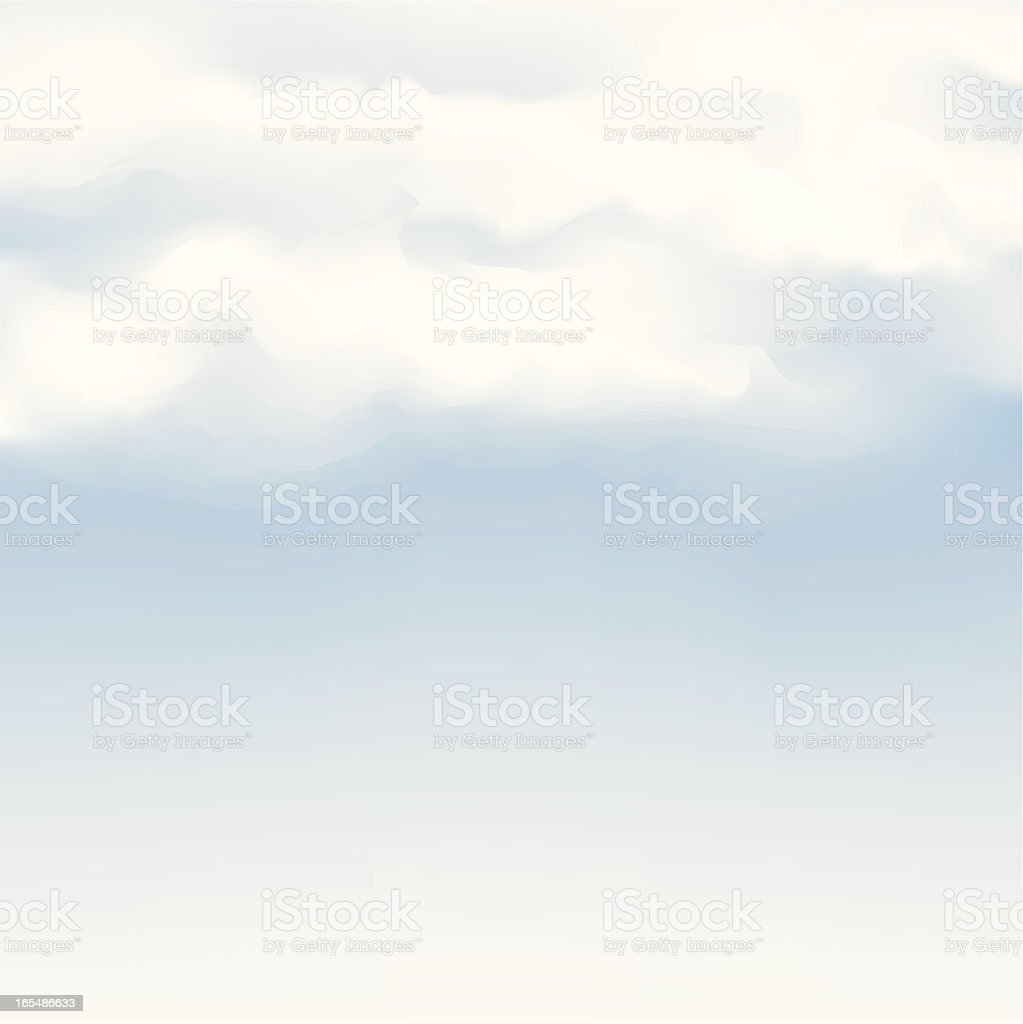 A graphic image of a cloudy blue sky royalty-free stock vector art