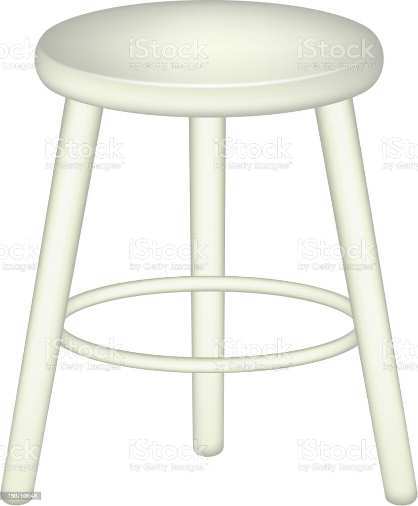 Graphic image of a retro style stool vector art illustration