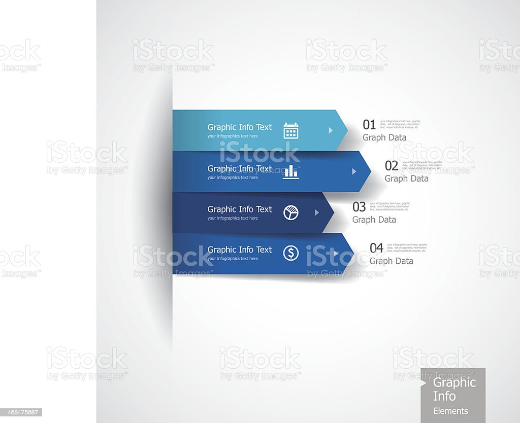 Graphic Info Elements vector art illustration
