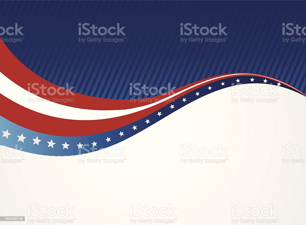 Graphic of an abstract American patriotic background vector art illustration