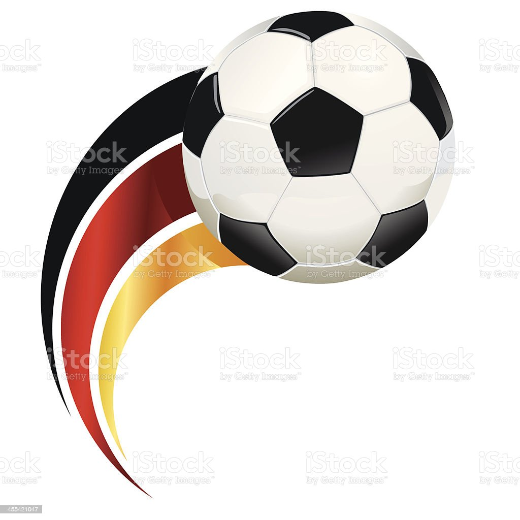 Graphic of soccer ball with abstract German flag royalty-free stock vector art