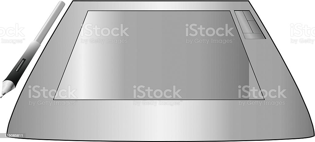 Graphic Pen and Tablet royalty-free stock vector art