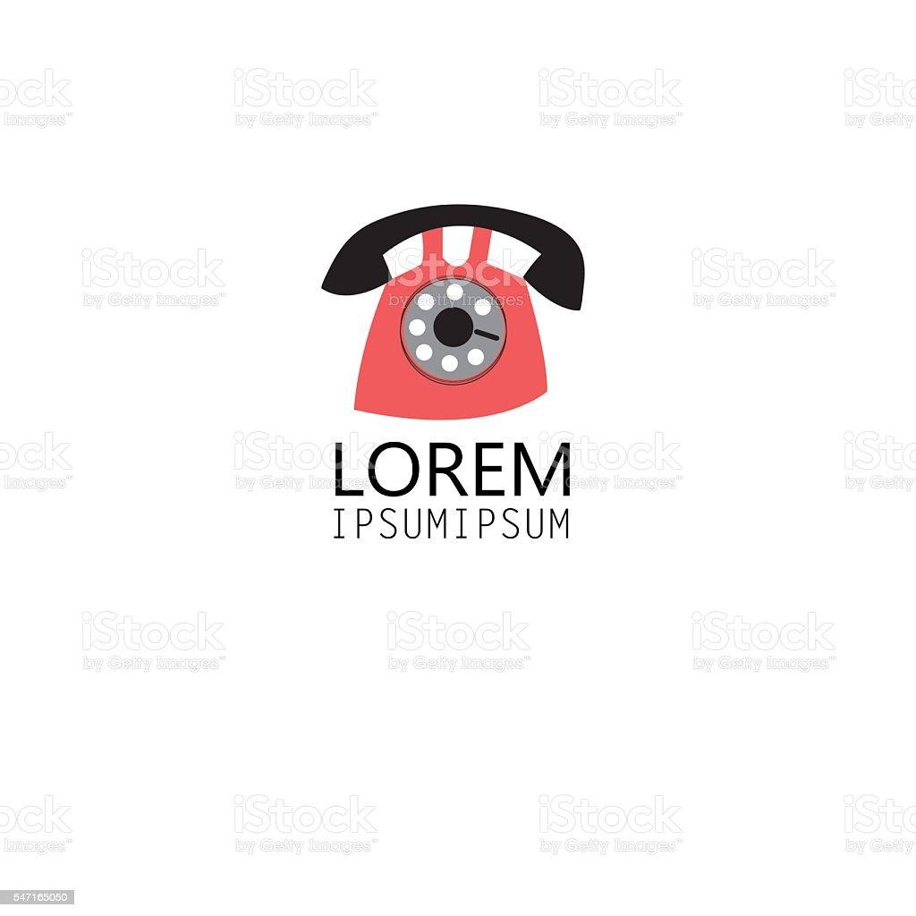Graphic symbol of the phone vector art illustration