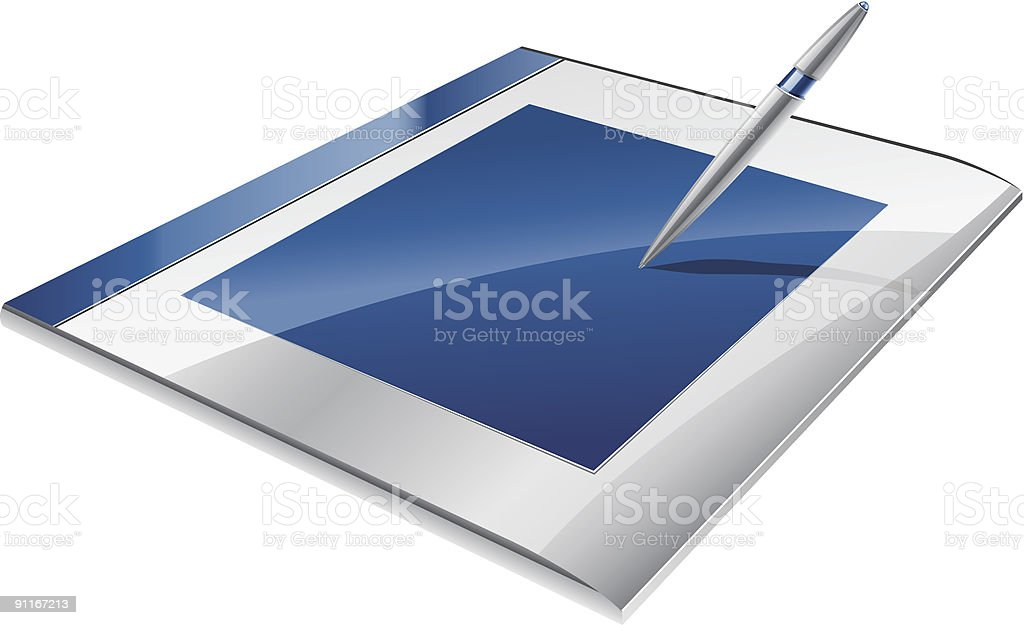 Graphic tablet royalty-free stock vector art