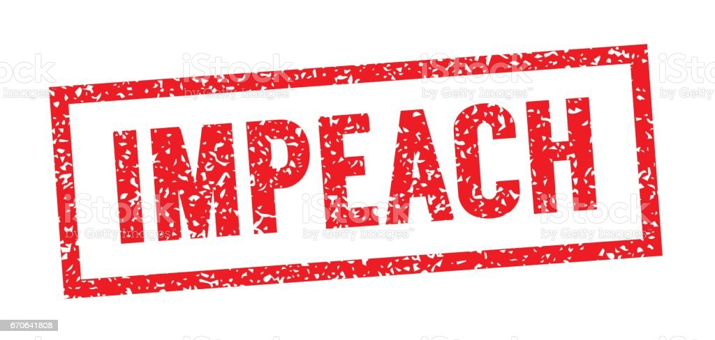 Graphic to Impeach the President vector art illustration
