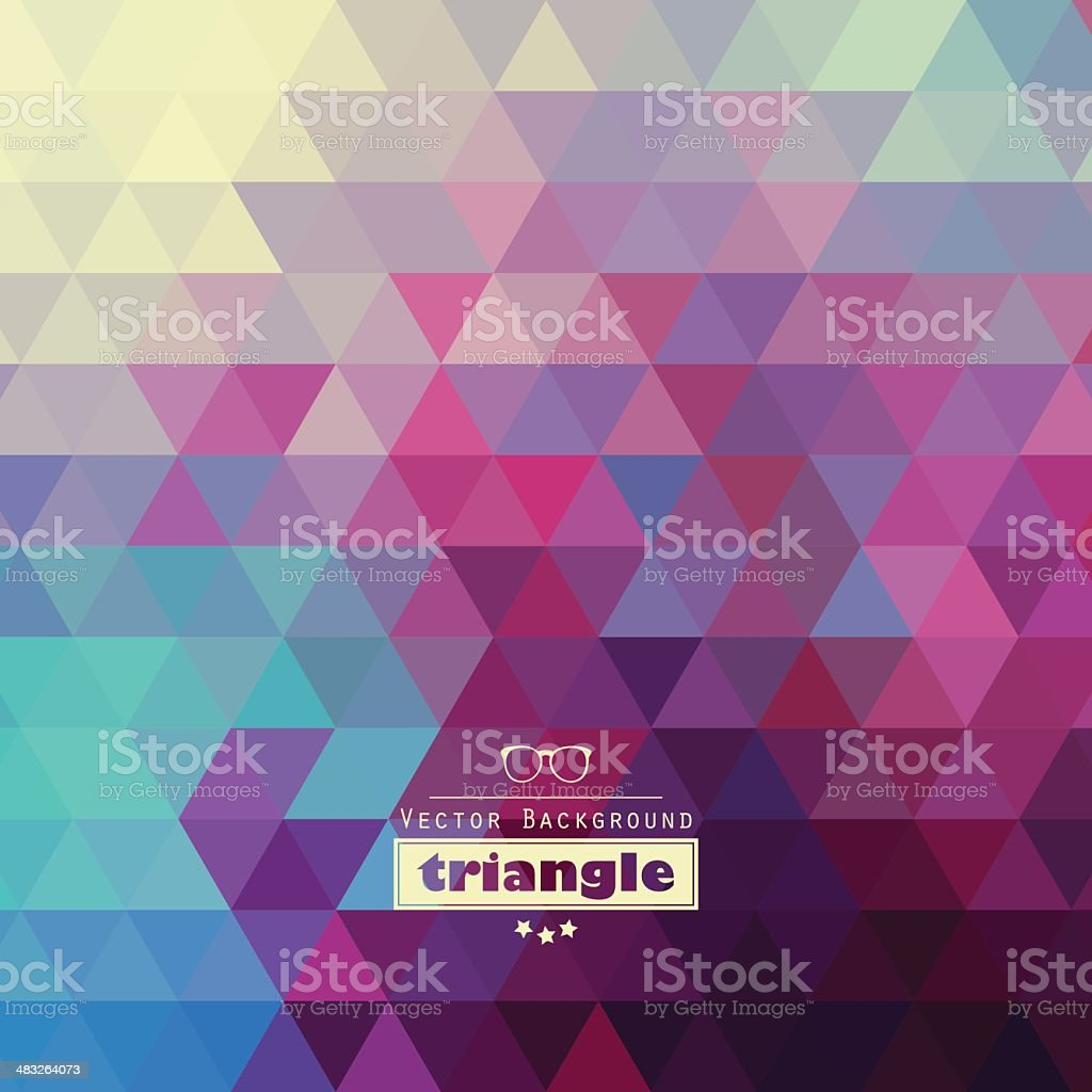 Graphic triangle pattern royalty-free stock vector art