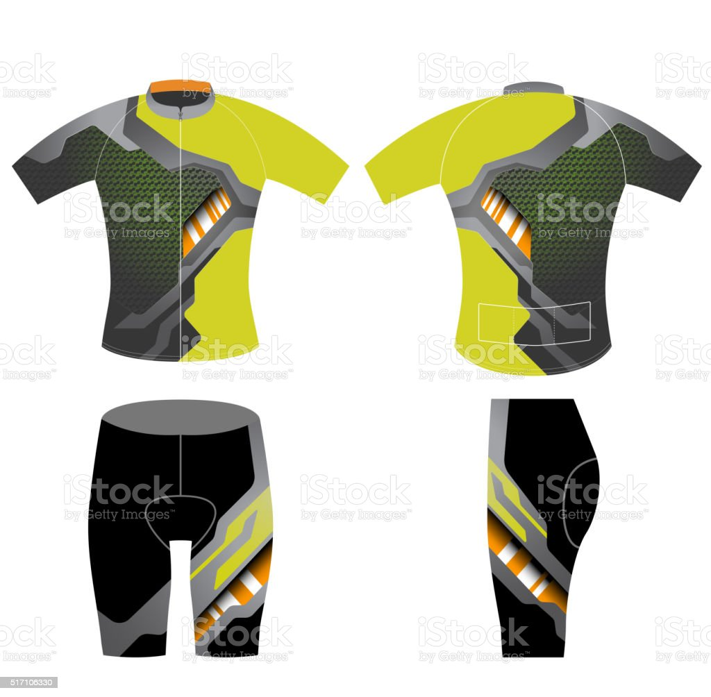 Graphic t-shirt cycling vest vector art illustration