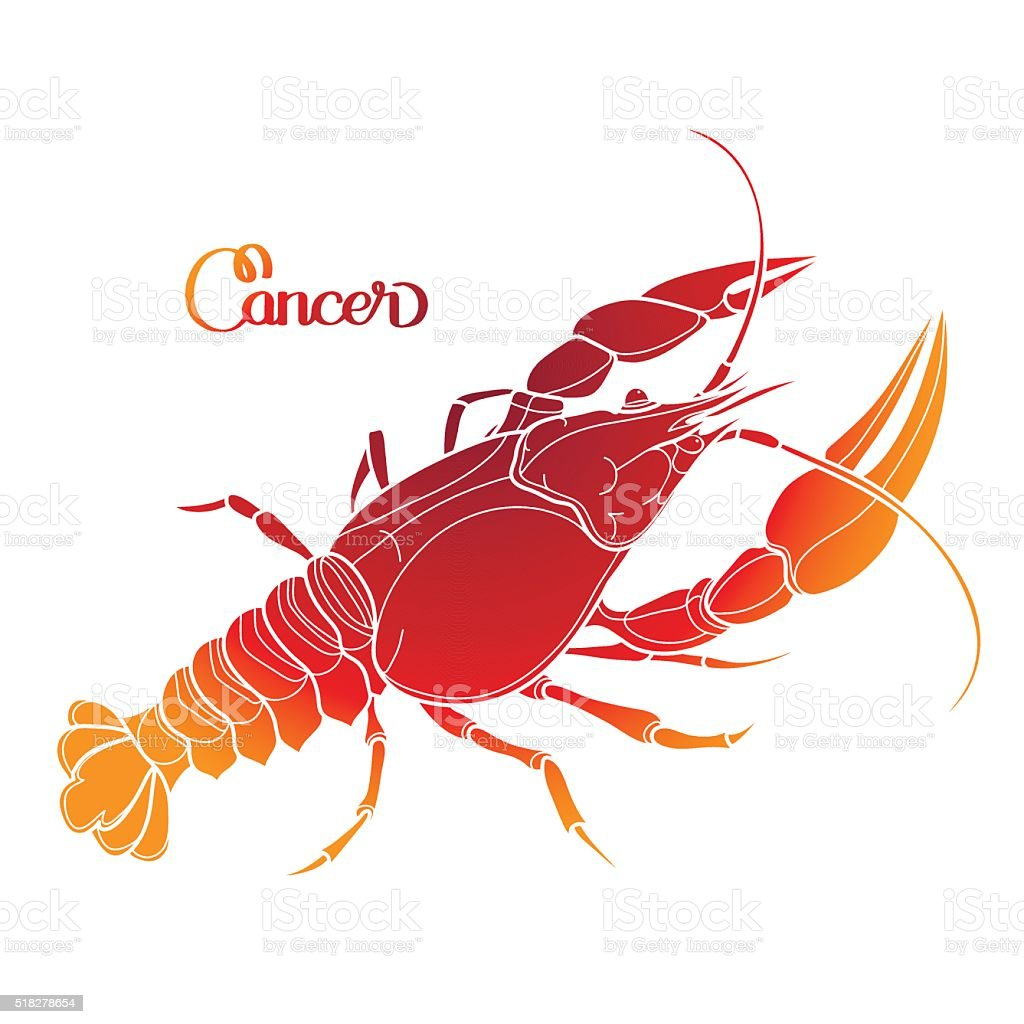 Graphic vector cancer vector art illustration