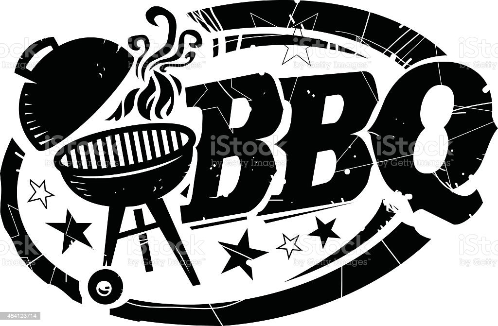 BBQ graphic vector art illustration