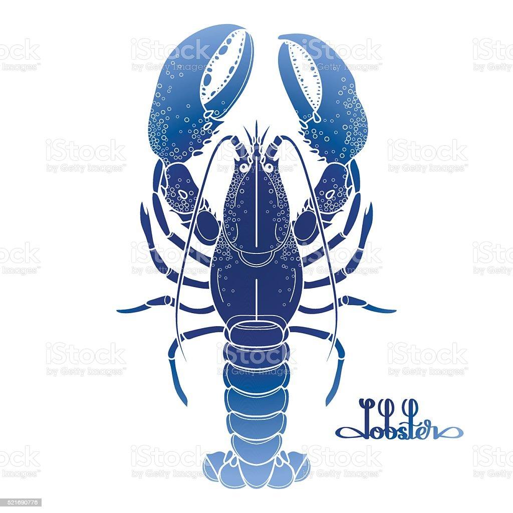 Graphic vector lobster vector art illustration