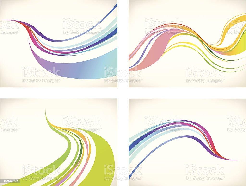 Graphic Wave Background  Set vector art illustration