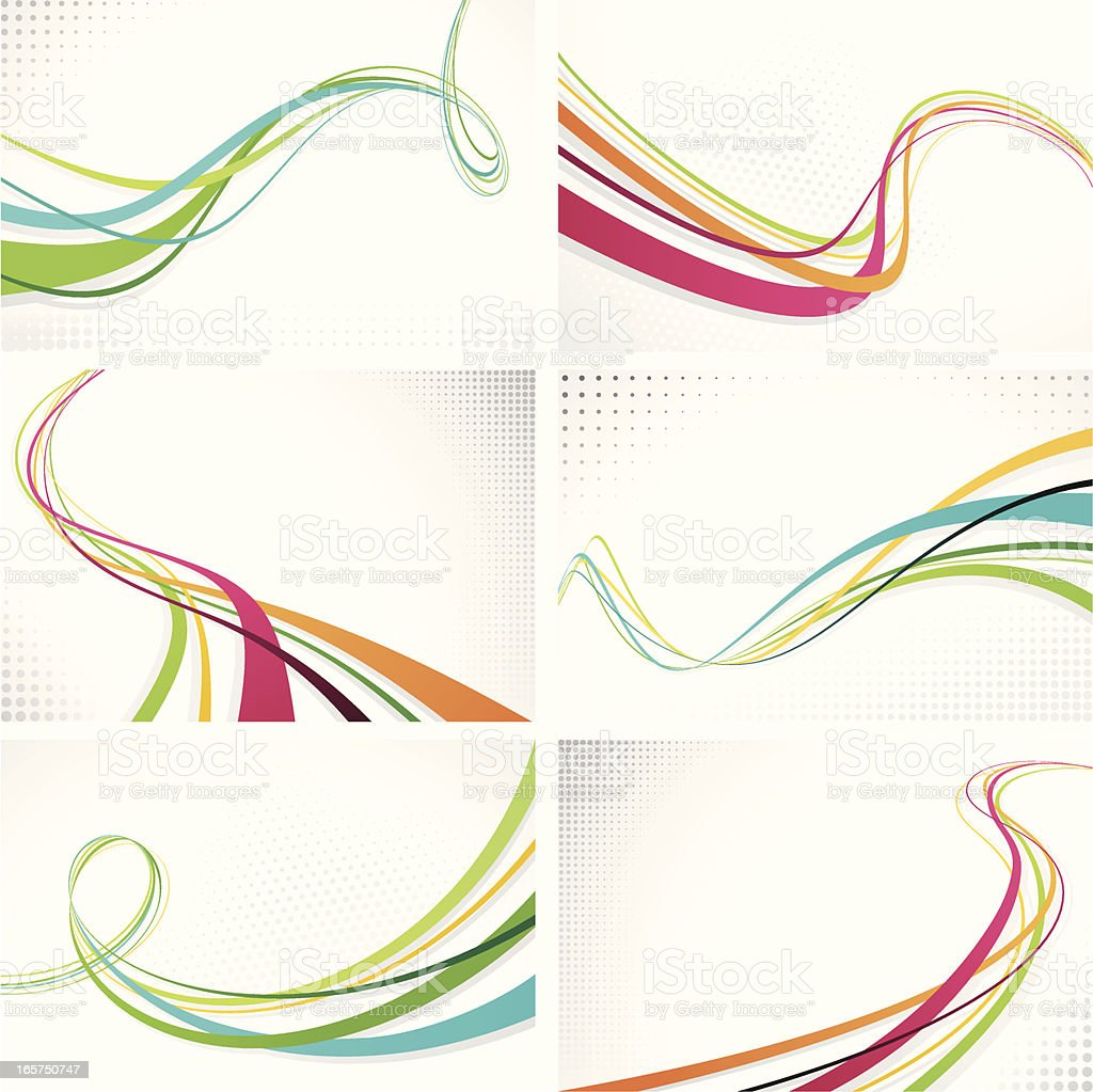 Graphic Wave Backgrounds royalty-free stock vector art