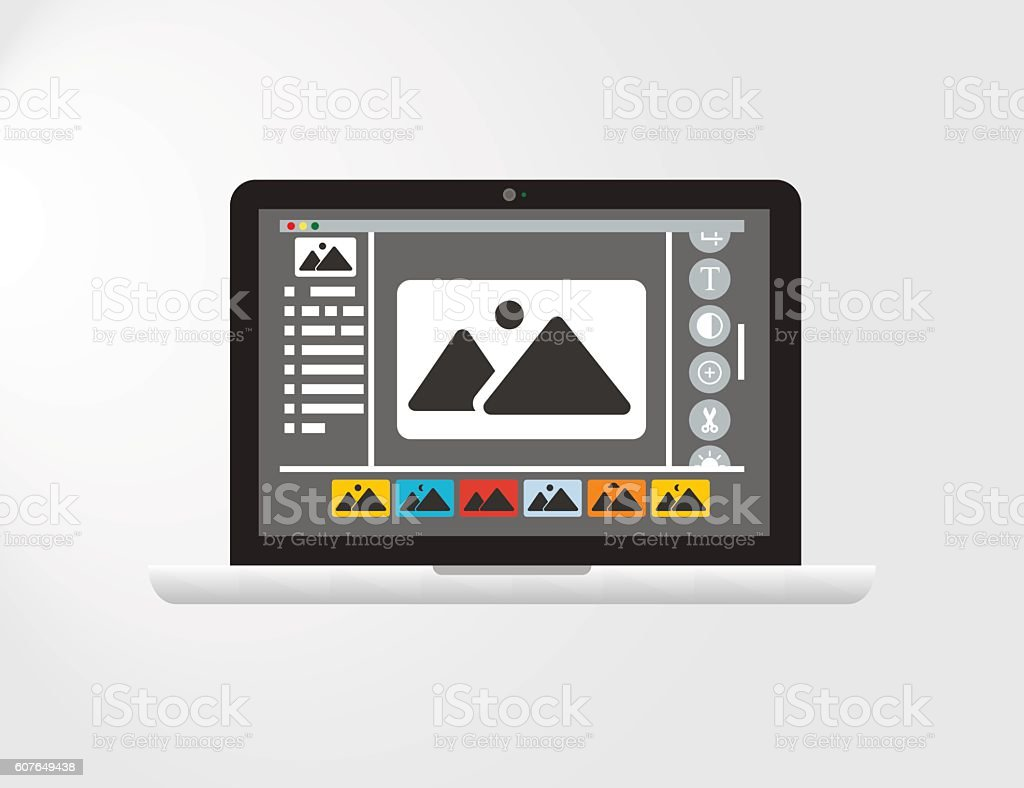 Graphical User Interface or GUI of an imagined Photo Editing Software...