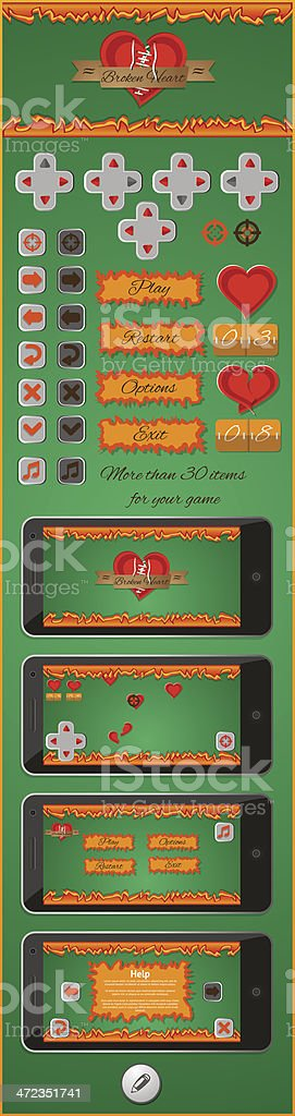 graphical user interface for games 3 royalty-free stock vector art
