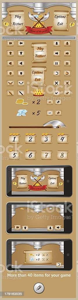 graphical user interface for games 6 royalty-free stock vector art
