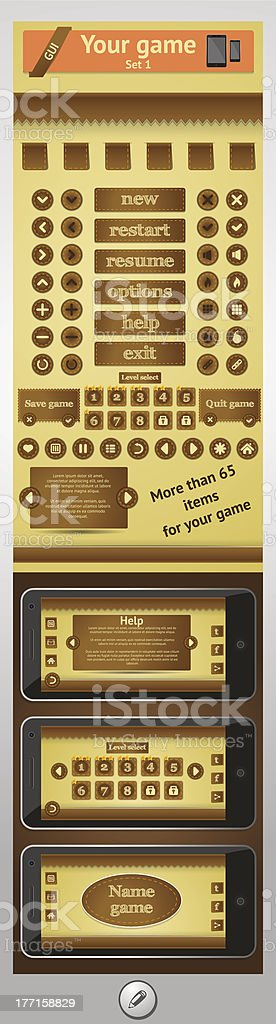 graphical user interface for games royalty-free stock vector art