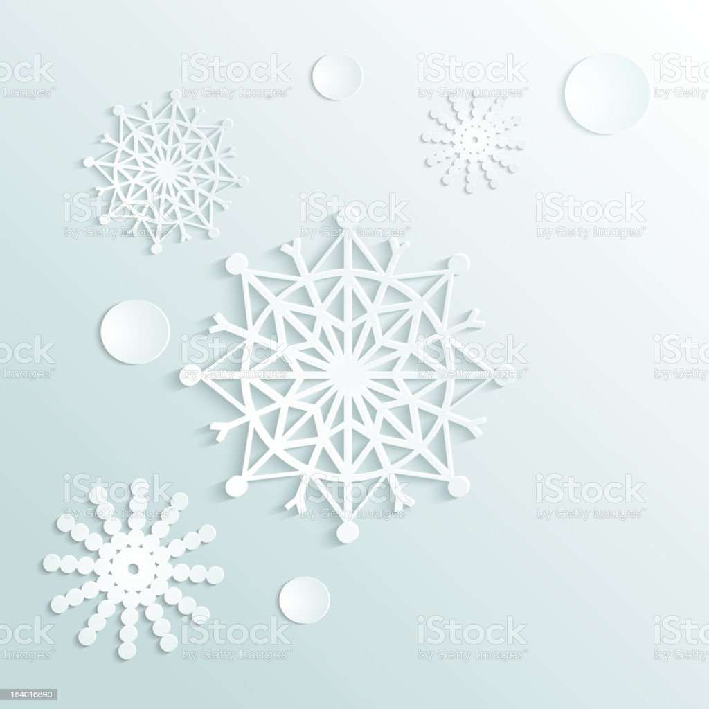 Graphics of snowflakes on a light colored background vector art illustration