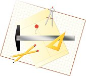 Graphics Tools Layout with Envelope and Graph Paper