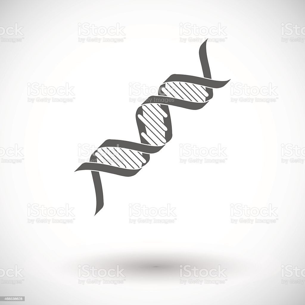 Graphite vector Icon representing the double helix of DNA vector art illustration