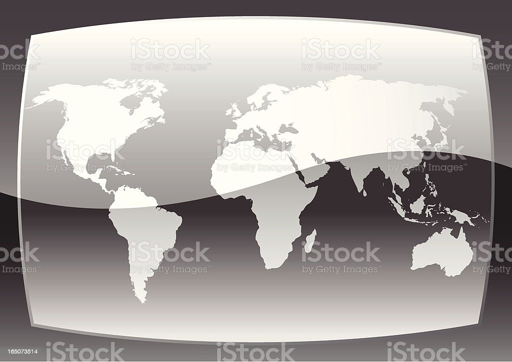 Graphite World Map royalty-free stock vector art
