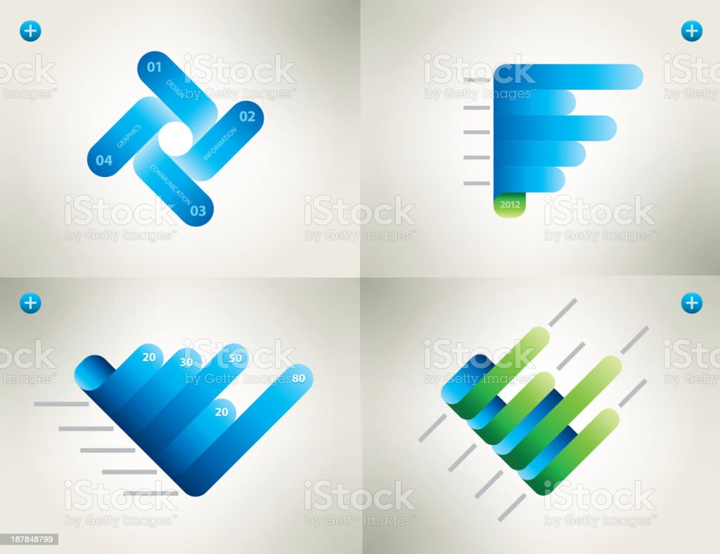 Graphs royalty-free stock vector art