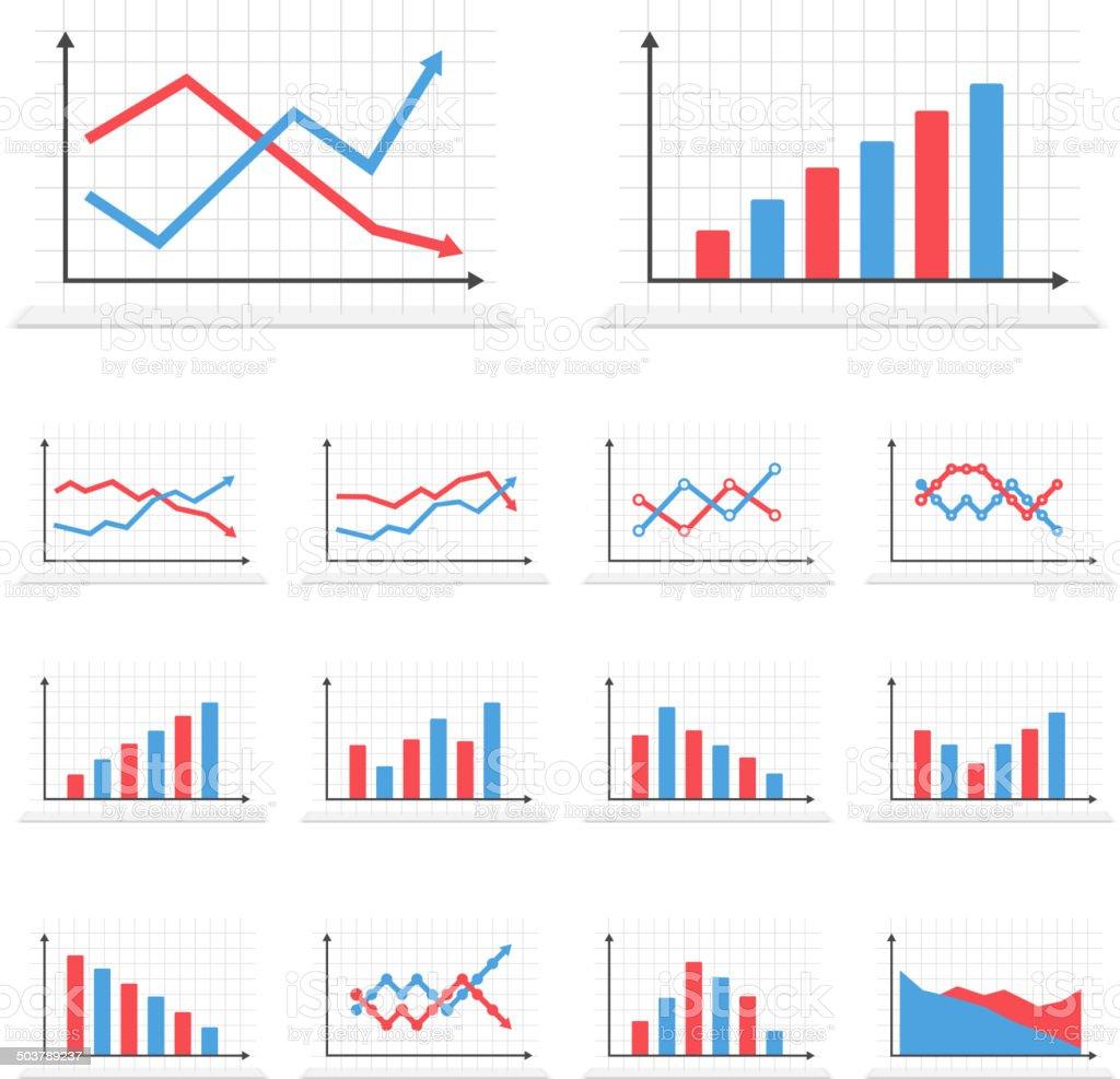 Graphs vector art illustration