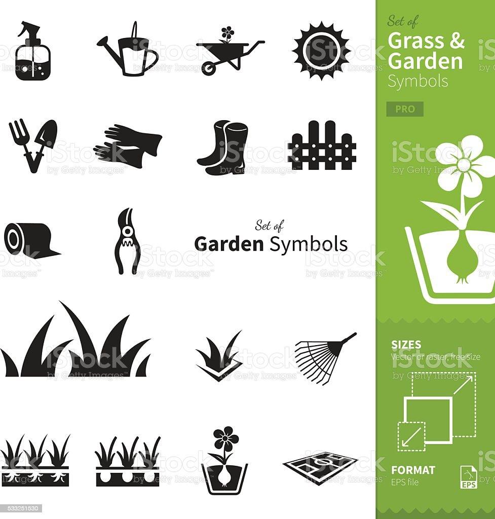Grass and Garden vector art illustration