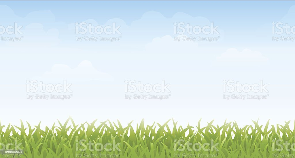 Grass and Sky -- Seamless vector art illustration