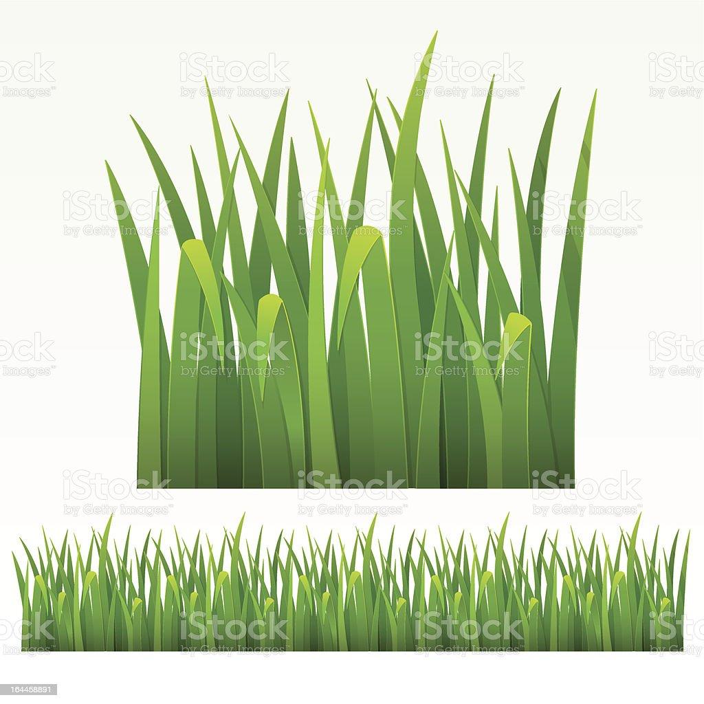 Grass border vector art illustration