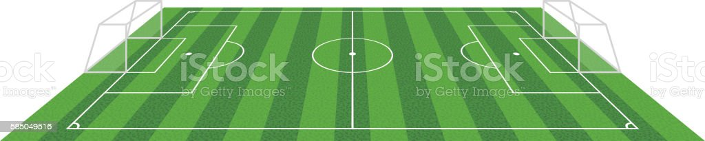 grass football soccer field, vector illustration vector art illustration