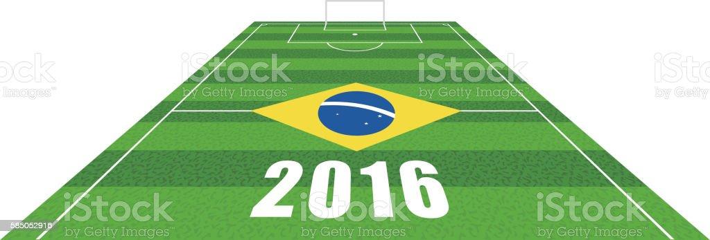 grass football soccer field, vector illustration vector art illustration