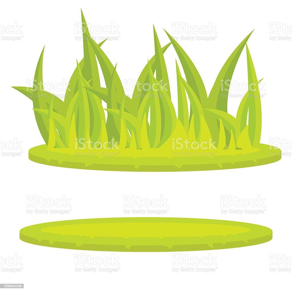 Grass lawn green cartoon vector clip art vector art illustration