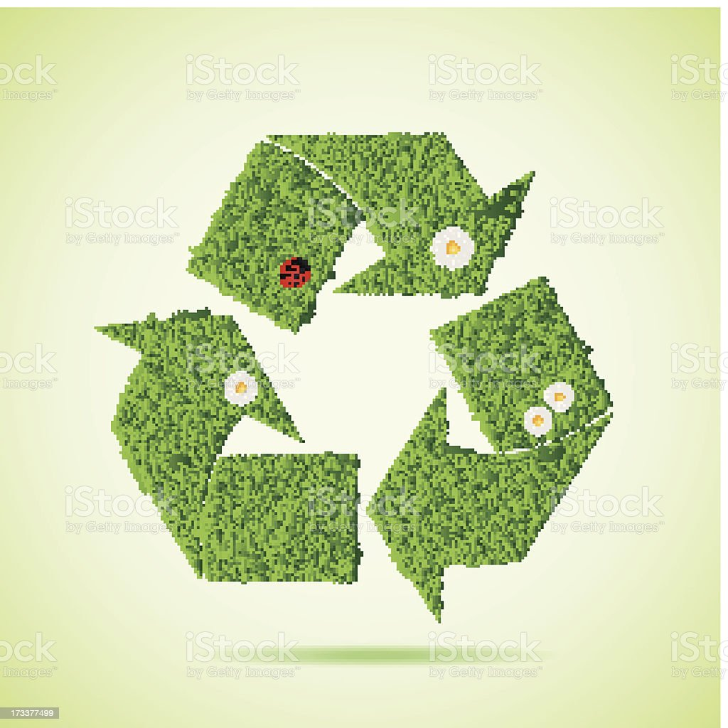 Grass recycle icon royalty-free stock vector art