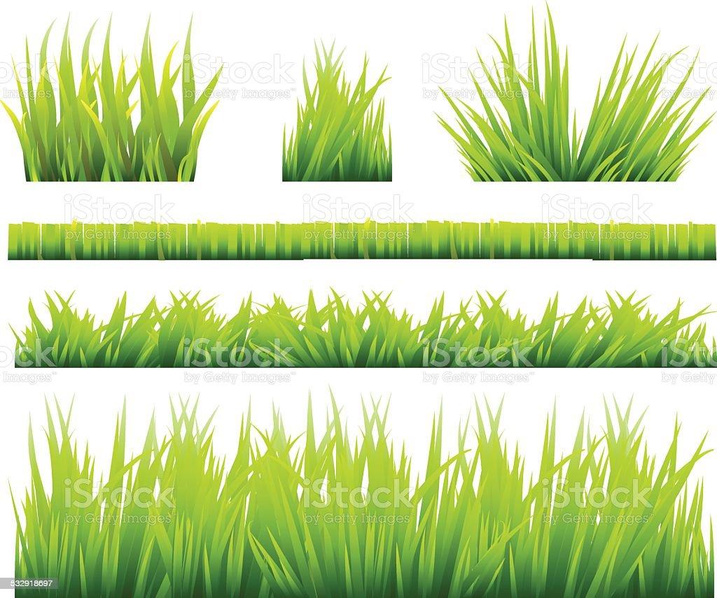 Grass sets vector art illustration